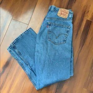 Men's Levi's Blue 505 Jeans 32x30 Zipper Fly
